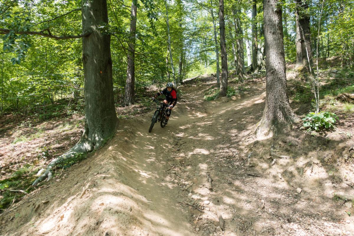 A-Line der Enduro-Trails Srebrna Gora